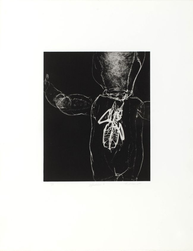 Click the image for a view of: Rosemarie Marriott. gefladder 1. 2015. Polymer etching. Edition 3. 650X500mm