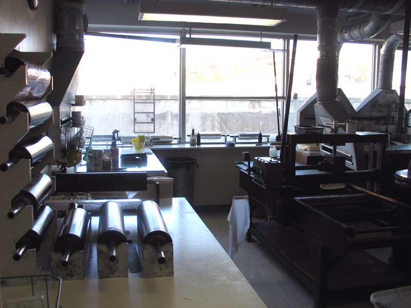 Click the image for a view of: The litho press at UWM
